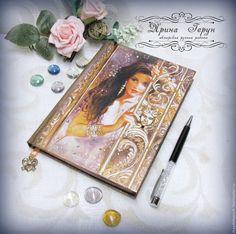 """Купить Ежедневник """"Незнакомка"""" - ежедневник, ежедневник в подарок, ежедневник декупаж, блокнот в подарок, блокнот для записей"""