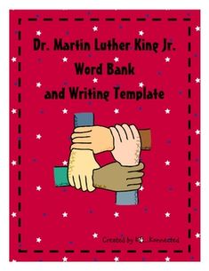 Let students share their thoughts and knowledge about Dr. Martin Luther King Jr. with this word bank and coordinated creative writing template. Thi... - Re-pinned by @PediaStaff – Please Visit http://ht.ly/63sNt for all our pediatric therapy pins