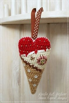 Cute crochet heart