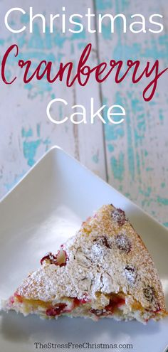 This Christmas cranberry cake is delicious and simple to make. I love to make this cake and it's so easy to make it's perfect for last minute get-togethers. Christmas Desserts, Christmas Treats, Christmas Cranberry Cake, Cupcakes, Cupcake Cakes, Cobbler, Cake Recipes, Dessert Recipes, Pizza Recipes