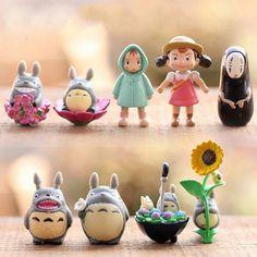 9pcs Studio Ghibli Anime Figure My Neighbor Totoro Toy Hayao Miyazaki Mini Garden PVC Action Figures Kids Toys For Boys Girls