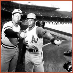 Dock Ellis & Vida Blue at the 1971 All Star Game