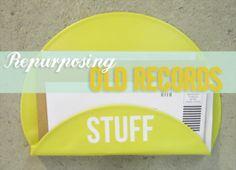 Repurposing Vinyl Records   www.heartsandsharts.com