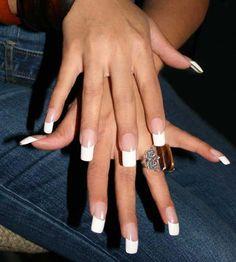 Aleida Nails Gallery – French Manicure – Always Elegant – Long Nails – Long Nail Art Designs Long French Tip Nails, French Tip Acrylic Nails, Classic French Manicure, Classic Nails, French Manicures, Manicure Colors, Manicure And Pedicure, Manicure Ideas, Nail Colors