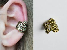 Shop put  favorites, we often have discounts and promotions! Pls, keep an eye on the store - https://www.etsy.com/ru/shop/EarringsEarcuffs      I make a gift with every order :)        A big plus Cuff - their versatility. Unlike traditional earrings, for many Cuff does not need piercing the ear, so that, having enjoyed the experiments, you can simply remove the decoration without any consequences.    This model in its design is suitable for both the girl and the guy. It is not flashy, but…