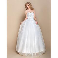 Hochzeitskleid - Glamurös & Dramatisch - A-Linie - Herz-Ausschnitt - Bodenlänge (Organza) – EUR € 36.35