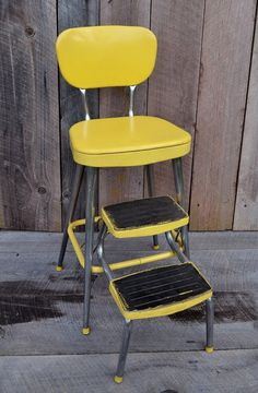 Yellow Ames Maid Step Stool Chair Vintage by RelicsAndRhinestones $138.87 Janu2026 & Vintage 1950s Stylaire Chair Fold Out Step Stool Yellow and Chrome ... islam-shia.org