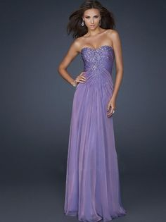 2012 Style A-line Sweetheart Rhinestone Sleeveless Floor-length Chiffon Prom Dresses / Evening Dresses (SZ0272297) - MicWell.com