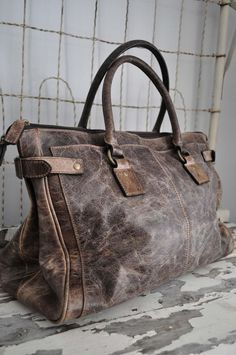 Distressed Leather handbag Vintage Grey deborah Shoulder frye satchel Bag NWT