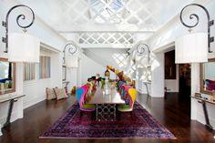 Salles à manger colorées. http://magasinsdeco.fr/salles-manger-colorees/