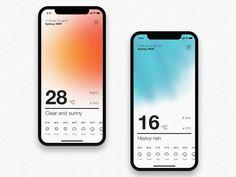 01 / Weather App Concept by Damian Martelli on Dribbble Web Design, App Ui Design, Interface Design, Blog Design, Layout Design, Google Glass, Ui Design Mobile, Design Typography, Ui Design Inspiration