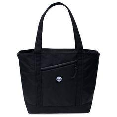Flowfold Stormproof Porter Zipper Tote Bag Jet Black Kevlar All-Purpose Day Pack