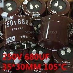 New import original 10pcs/lot 250V 680UF DIP Aluminum Electrolytic Capacitors 680UF / 250V 30MM*30MM / 35MM*30MM ic ...