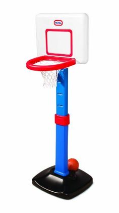 Buy Little Tikes TotSports Basketball Set -TotSports basketball set.-Perfect for the budding athlete. -Encourage them to jump high, stand tall, and shoot the ball. -Adjustable height, from 2 - 4 feet, to grow with your child. -Easy to assemble 2 piece rim for secure play. -Automatic ball return.-Secure basketball holder for storage. -Pro style square backboard. -Develops social and motor skills and coordination. -Suitable for age: 18 months - 5 years old. -Made in the USA.