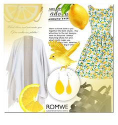 """""""ROMWE 9"""" by mini-kitty ❤ liked on Polyvore featuring Eileen Fisher, Kate Spade, Kim Rogers and romwe"""