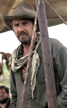 Kevin Costner - this picture is from the movie Open Range and is one of the all time best westerns ever.  I've watched the shoot out in the movie many times and I never get tired of watching Kevin and Robert Duval go after the bad guys.