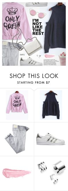 """""""Only Queen"""" by pokadoll ❤ liked on Polyvore featuring AG Adriano Goldschmied, adidas Originals, STELLA McCARTNEY, Hedi Slimane, By Terry, polyvoreeditorial and polyvoreset"""