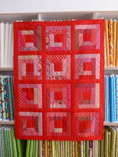 Quiltmanufaktur Andrea Kollath, Log Cabin Red
