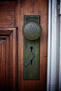 Intricacies in 100 year old door knob.