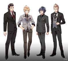 The guys dress formally