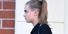 Fashion's favorite wild child. Newly minted LOVE editor Cara Delevingne stepped out with a newly sheared 'do yesterday—at least, in one very small section of her head. Undercut, meet the side shave.