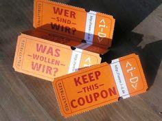 Desain Kartu Nama Unik tidak Biasa | perforated ticket like business card