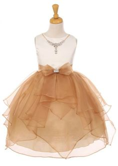 Girls Dress Style 2041 - Satin and Organza Dress with Matching Necklace  in Choice of Color  The perfect dress for her special day, this dress is so stylish. The dress is made of beautiful satin and organza. The skirt on this dress has the perfect amount of fullness. To top off the perfect outfit the dress has an adorable rhinestone necklace.  http://www.flowergirldressforless.com/mm5/merchant.mvc?Screen=PROD&Product_Code=KK_2041MO&Store_Code=Flower-Girl&Category_Code=New