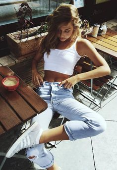 3d0a5d4d5cd4c7 34 Best jeans and crop top images in 2015 | Cute outfits, Casual ...