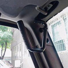 Opar Grab Bar Front Grab Handle for 07-15 Jeep JK Wrangler 2 & 4 Door - 1 Pair (Black)