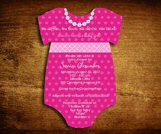 Set of 25 Onesie Die Cut Baby Girl Shower by SweetCartolina, $37.50