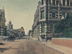 Avenida Alvear y Rodriguez Peña , 1905 .  Se cruzaron el panadero y el lechero .