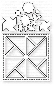 Papertrey Ink - Quilted: Summer Die: Papertrey Ink Clear Stamps Dies Paper Ink Kits Ribbon