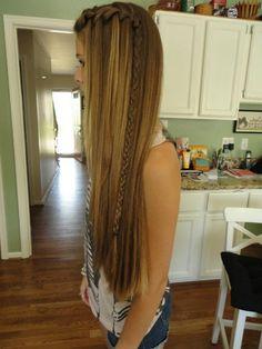 waterfall braid   wish i had hair that long!