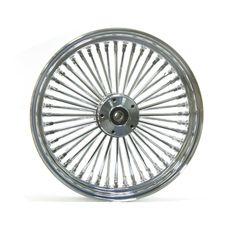 Harley Davidson 23x3.5 King Spoke Fat Spoke Front Wheel In Chrome Ultima 37-524 | eBay