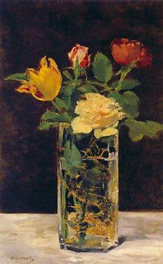 Impressionism flower handmade Painting