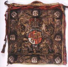 Herefordshire Museum collections.  Georgian stumpwork velvet purse 1800-1833