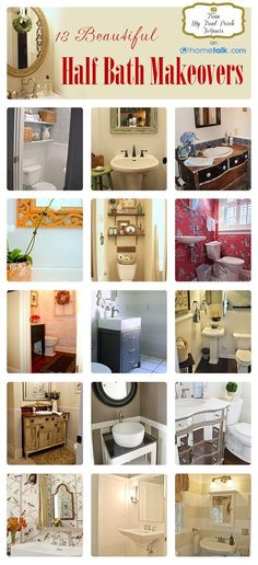 DIY:: Beautiful Bathroom Makeovers on a Budget. ( With Full Tutorials, Tips, Ideas, and all the DETAILS for each one !) I especially like the bathroom with the bead-board wainscoting and butterfly artwork. Bathroom Renos, Laundry In Bathroom, Bathroom Interior, Small Bathroom, Bathroom Ideas, Bathroom Stand, Design Bathroom, Washroom, Bathroom Remodeling