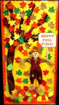Classroom Door Leafy Scarecrow (60 pieces)
