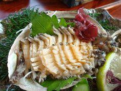 あわび刺身 abalone sashimi