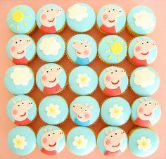 Peppa Pig Cupcakes by hello naomi, via Flickr