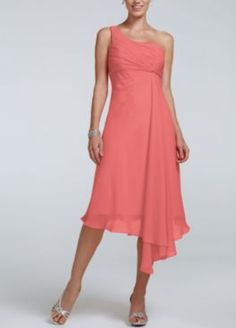 Bridesmaid Dresses & Junior Bridesmaid Dresses at Davids Bridal- coral reef