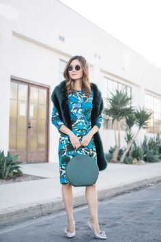 Stylewich by Elizabeth Lee, fashion blogger, outfit ideas, style inspiration, fall fashion, Mansur Gavriel circle bag, Isabel Marant Poetty glitter pumps, J. Crew sequin vibrant floral sweater skirt