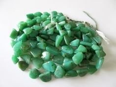 Chrysoprase Tumble Beads, Natural Chrysoprase Smooth Tumbles, 11mm To 22mm, 7.5…