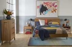 Dane Bed Frame with Upholstered Headboard & Timber Base – Snooze Living Room Decor, Living Spaces, Bedroom Decor, Dane Bed, New Beds, King Beds, Bed Frame, Home Furniture, Base