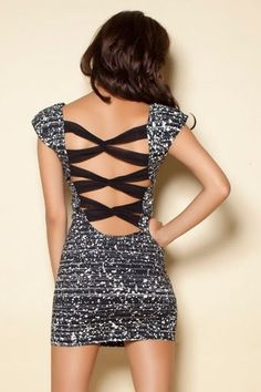 hot party dress! love the back.