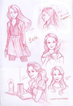 Belle fan art - by luludrawsouat on Tumblr