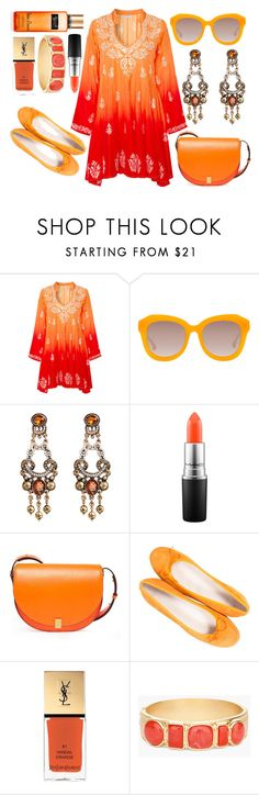 """Orange"" by rev2fashion ❤ liked on Polyvore featuring Alena Akhmadullina, Alice + Olivia, MAC Cosmetics, Victoria Beckham, Paolo Shoes, Yves Saint Laurent, Chico's, Victoria's Secret and summercasual"