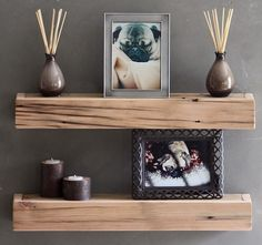 What about a lighter, rustic wood to tie in with old-world, but provide a more feminine feel with the tone?
