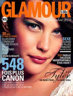 Liv Tyler en couverture du magazine Glamour n°6 (septembre 2004)