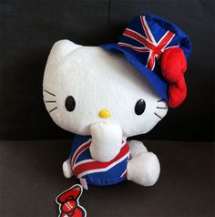 "10"" Hello Kitty Great Britain Costume Plush Soft Toy Doll Sanrio New | eBay"